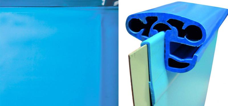 Liner blu delle piscine interrate circolari CLIO