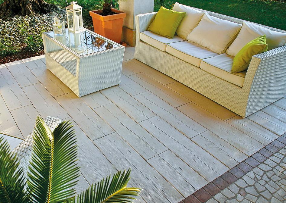Listone pavimentazione legno autentika 90 x 25 h 5 cm prezzo al mq arredo - Pavimentazione giardino in legno ...