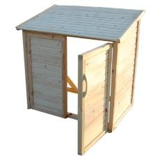 Locale tecnico in legno per piscine fuori terra
