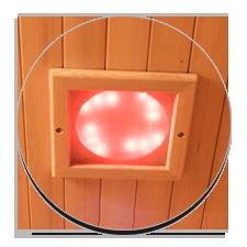 Illuminazione riposante interna ed esterna per sauna infrarossi