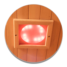 Illuminazione interna ed esterna per sauna a raggi infrarossi