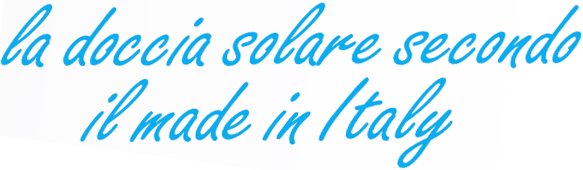 Doccia solare made in Italy