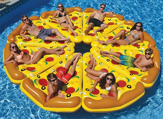 Materassino gonfiabile trancio di pizza