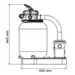 Gruppo filtrante GRE da 3 m³/h monoblocco a sabbia