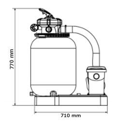 Gruppo filtrante GRE da 4 m³/h monoblocco a sabbia