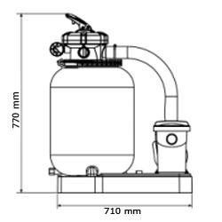 Gruppo filtrante GRE da 5 m³/h monoblocco a sabbia