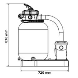 Gruppo filtrante GRE da 7 m³/h monoblocco a sabbia