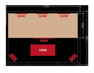Misure sauna a infrarossi