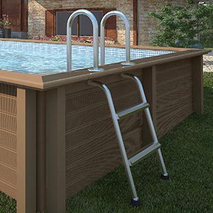 Piscina in pietra ricostruita effetto legno naturalis 4 67 x 3 24 h1 28 - Scaletta per piscina fuori terra ...