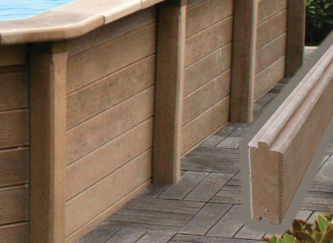 Piscina in pietra ricostruita effetto legno naturalis 4 67 - Rivestire piscina fuori terra fai da te ...