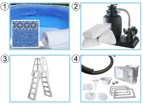 Kit STANDARD piscina vogue fuoriterra