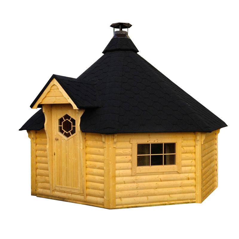 Sauna finlandese tradizionale da esterno Olaf 10-15 posti