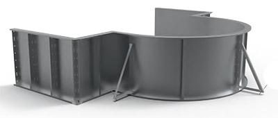 Piscina interrata ITALIKA Steel con scala romana