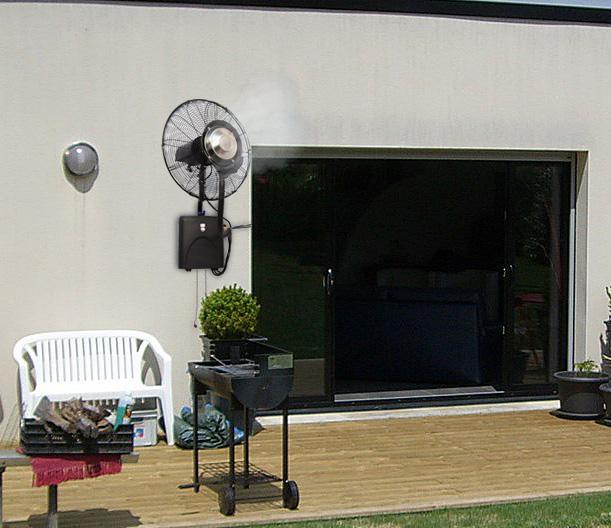 Ventilatore nebulizzatore montaggio a parete Fresh