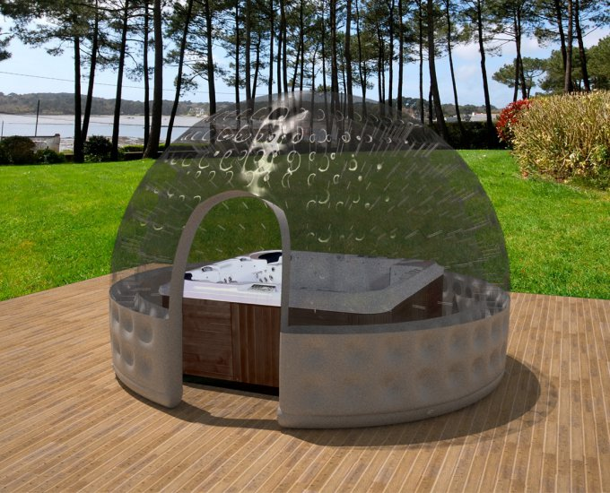 copertura gonfiabile poolglobe per spa. Black Bedroom Furniture Sets. Home Design Ideas