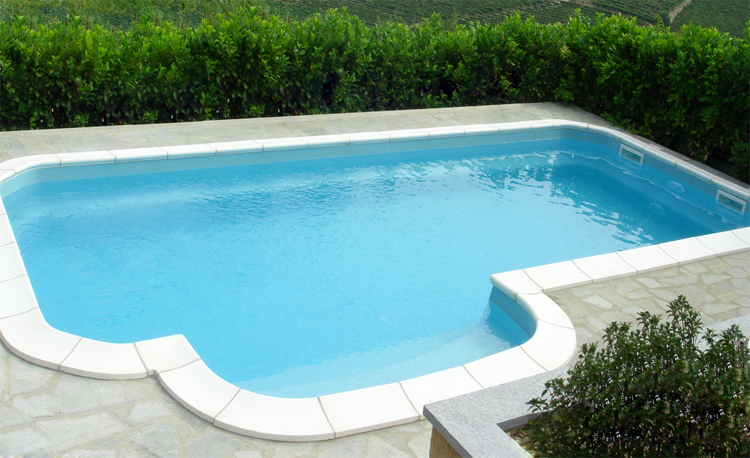 Piscina interrata in vetroresina kreta 780 7 80 x 4 60 fondo piano h 1 50 m - Dimensioni piscina ...