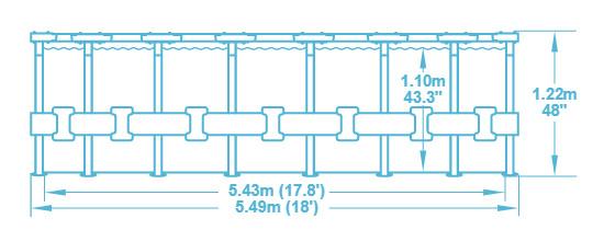 Piscina fuori terra Steel frame struttra in acciaio rotonda