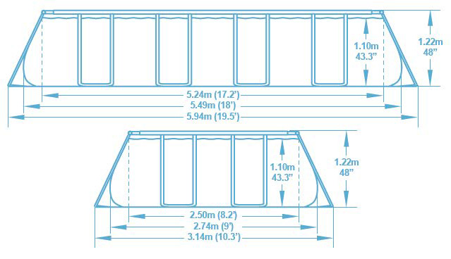 Piscina Steel Frame professional by Bestway dimensioni