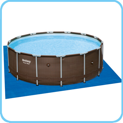 Piscina bestway steel pro frame rattan 4 27 x h 1 07 m - Tappetino per piscina ...