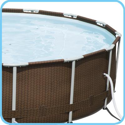 Piscina fuori terra Bestway STEEL FRAME Rotonda accessori piscina