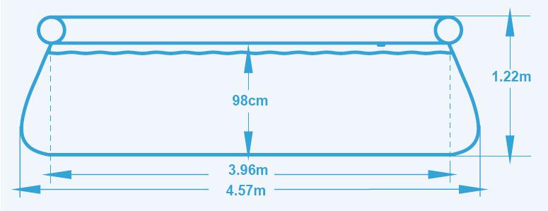 Piscina fuori terra bestway fast set 4 57 x h 1 22 m for Piscina fuori terra grandi dimensioni