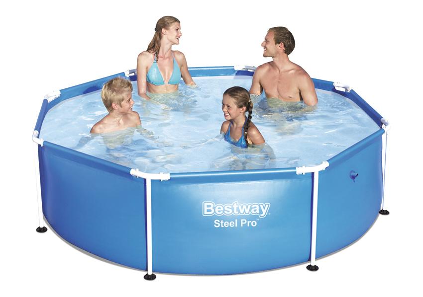 Piscina fuori terra bestway steel frame 2 44 x h 0 61 m - Riparazione telo piscina ...