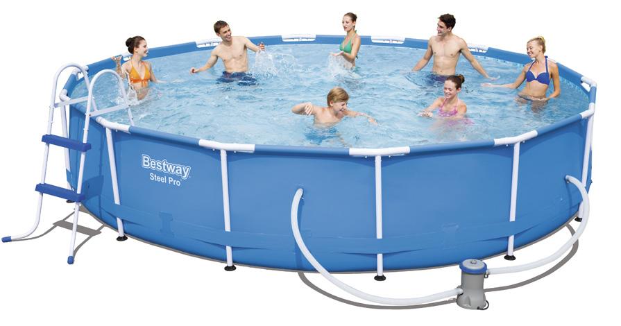 Piscina bestway steel pro frame 4 27 x h 0 84 m - Riparazione telo piscina ...