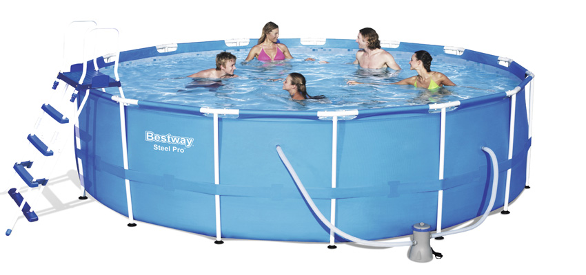 Piscina fuori terra bestway steel frame rotonda 4 57 x h 1 22 m kit completo - Riparazione telo piscina ...