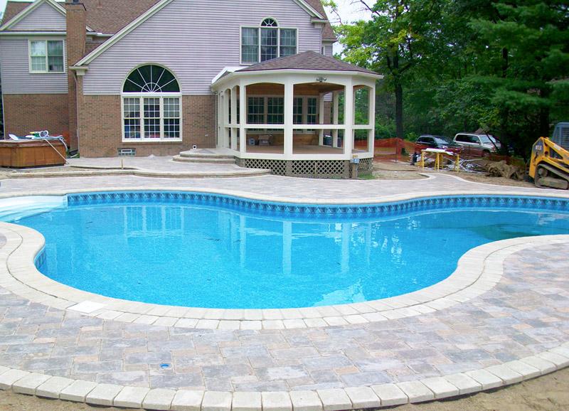 Kit componenti per piscina in cemento armato kansas superficie 32 m h 1 20 m - Piscina in cemento ...