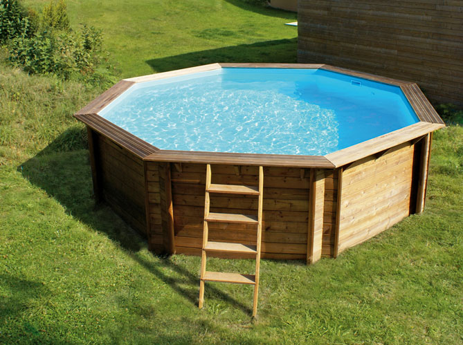 Piscina in legno fuori terra odyssea 440 ottagonale 4 - Amenagement piscine hors sol photo besancon ...