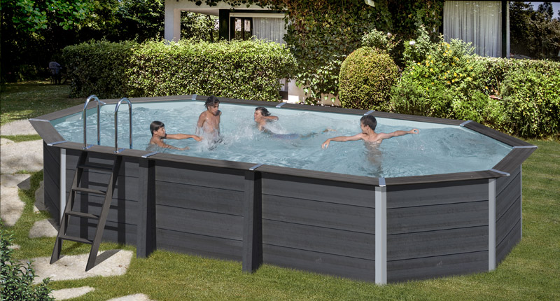 Piscina in legno composito WPC WOOD