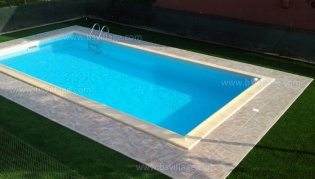piscina pannelli d'acciaio interrata