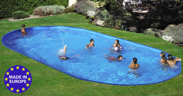Piscina interrata TOSCANA LIGHT ovale 5,00 x 3,00 h1,20 m  BSVillage.com