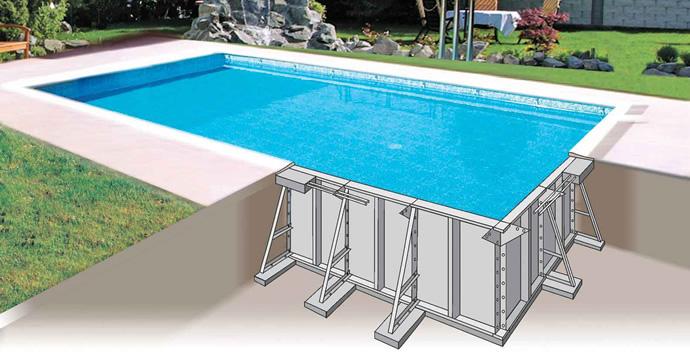 Piscina interrata kora in pannelli d 39 acciaio 9 80 x 4 00 - Prezzo piscina interrata ...