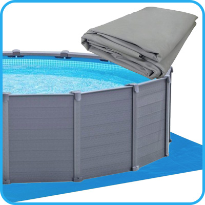 Piscina fuoriterra intex sequoia 4 78m h1 24m pompa a for Piscine intex graphite