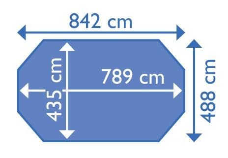 dimensioni piscina odyssea 840 + h 146
