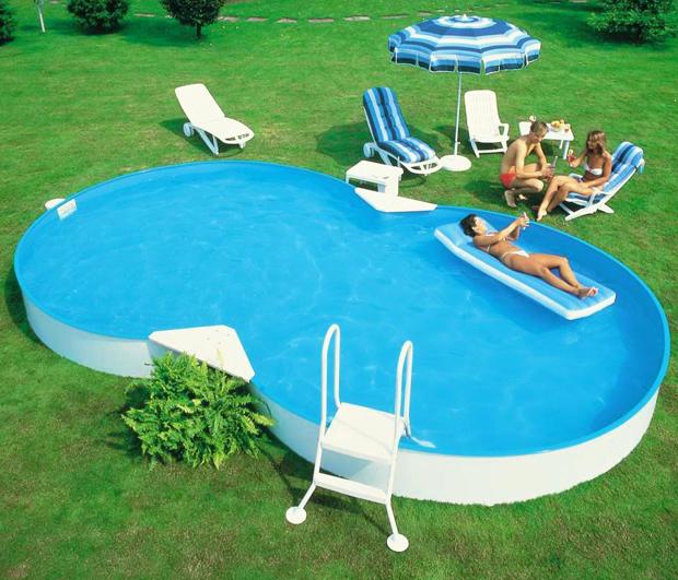 Piscina fuori terra a otto isabella 920 9 20 x 6 00 h 1 for Interrare piscina