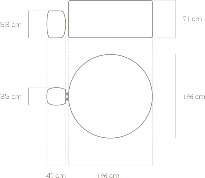 Dimensioni Idromassaggio Gonfiabile Lay-Z-Spa PALM SPRINGS Bestway