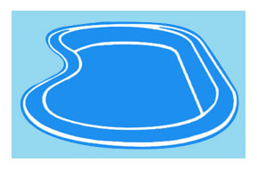 Piscina interrata in vetroresina heidi 2 50 x 1 50 fondo for Laghetto vetroresina