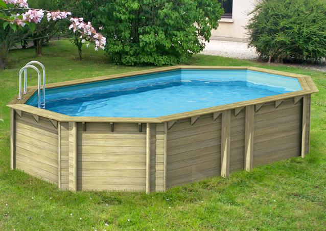 Piscina fuori terra in legno ecowood easy plus 610 for Kit piscina fuori terra