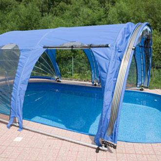 Copertura telescopica per piscina fuori terra