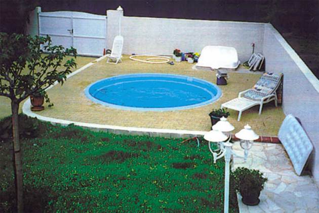 Piscina interrata in vetroresina wendy 4 00 fondo piano h 1 20 m - Piscine in vetroresina ...