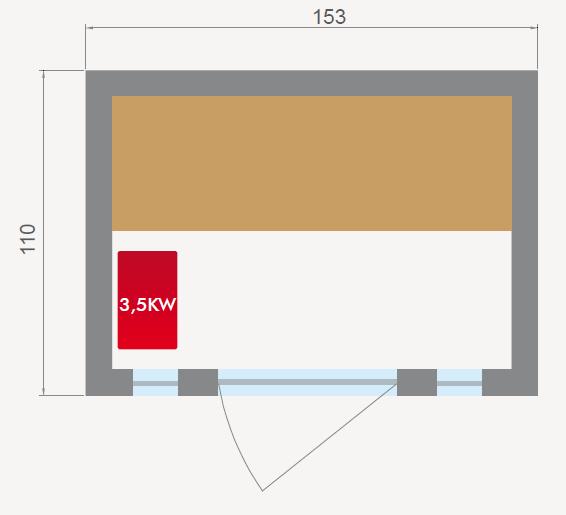 dimensioni sauna
