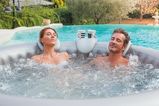 poggiatesta/portabevande per piscina SPA