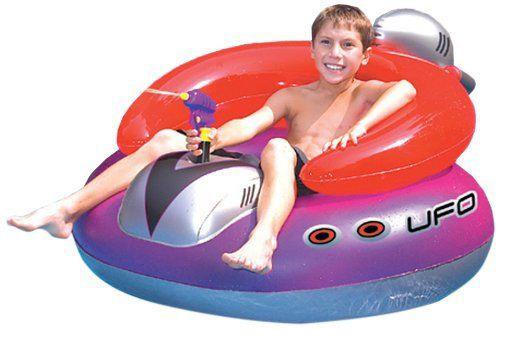 Poltrona gonfiabile galleggiante UFO con pistola ad acqua