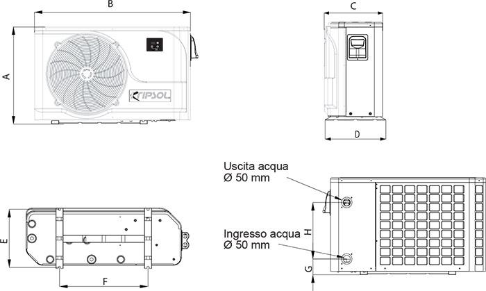 Dimensioni Pompa di Calore Komfort RC