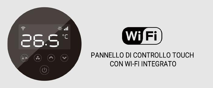 Pannello di controllo Touch con Wi-Fi integrato