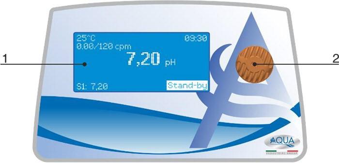 Pannello di controllo pompa dosatrice elettromagnetica HC151+ RX
