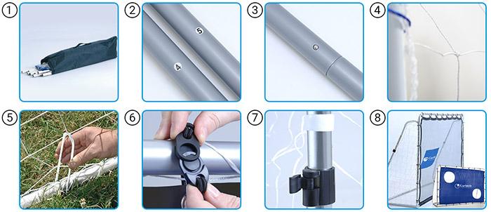 Montaggio Porta da calcetto regolamentare FIELD MATCH PRO 300 x 200 cm