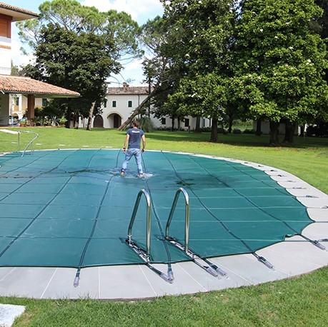 Copertura invernale filtrante per piscina